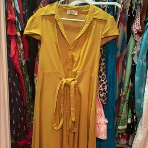 Grace Karin mustard dress